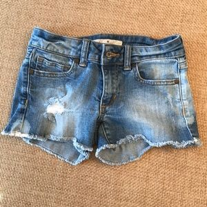 Joe's jean adorable girls size 7 cut off shorts